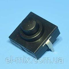 Кнопка с фиксацией 12х12х4,5(9,4)мм  ON-OFF для фонарика