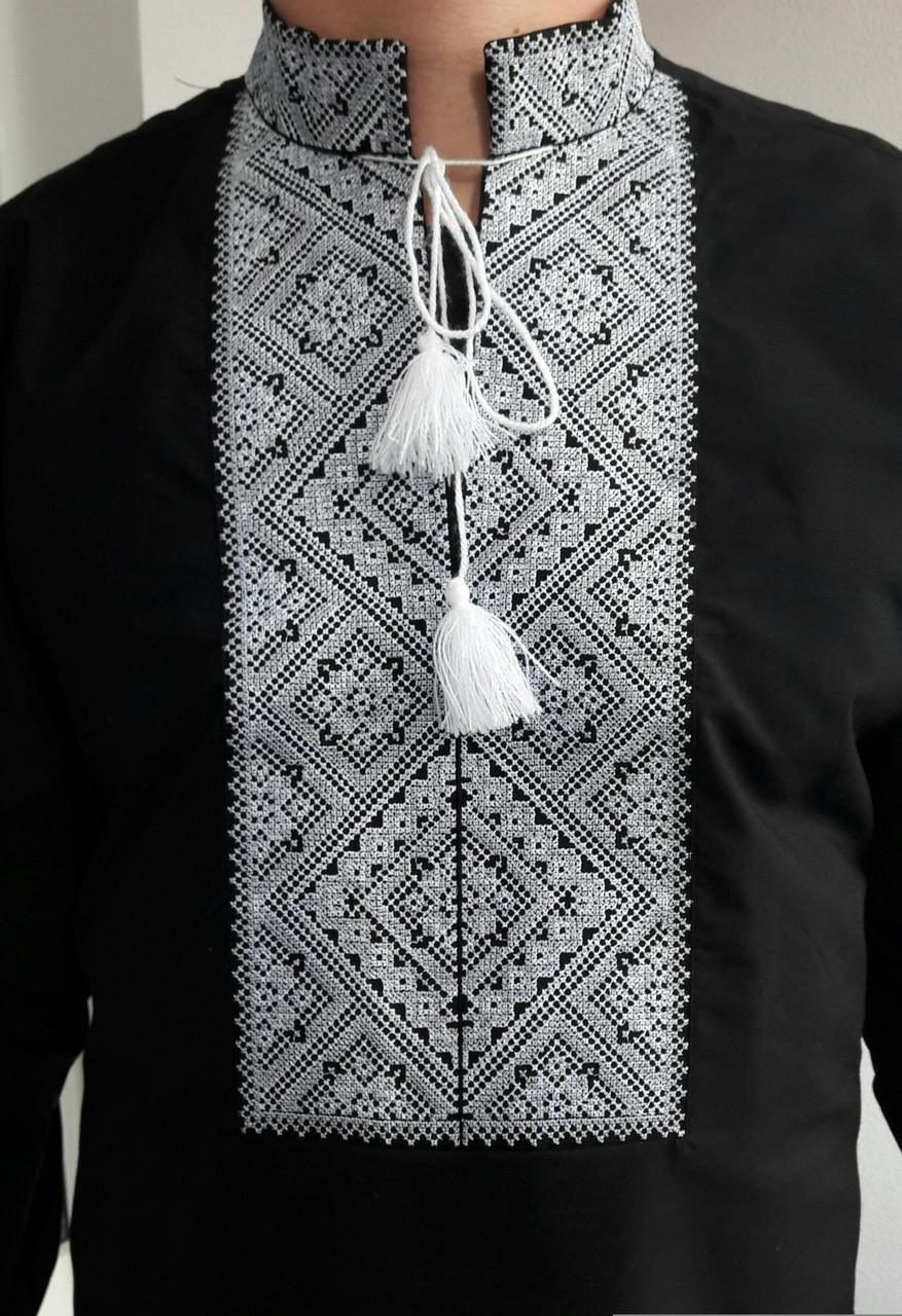 Вышиванка мужская черная Федор