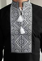 Вышиванка мужская черная Федор, фото 1