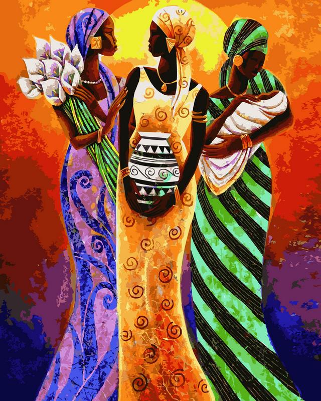 Раскраски по номерам 40×50 см. Африканские мотивы Художник ...