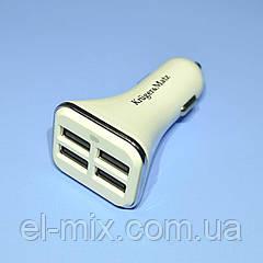 Устройство зарядное авто гн.USB-Aх4  6.8A  Kruger&Matz KM0205