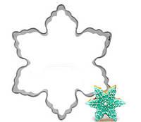 Снежинка вырубка для пряников и печенья металл