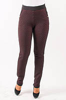 Качественные трикотажные женские брюки с боковой молнией