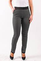 Стильные трикотажные женские брюки с боковой молнией
