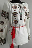 Красивая вышиванка женская из льна