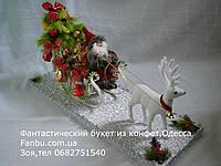 Санта клаус с мешком новогодних конфетных подарков, фото 1