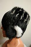 Зимняя женская меховая шапка кубанка, фото 4