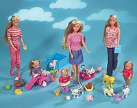 Симба Simba Кукла Штеффи и Еви с животными