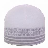 Белая шапка для мужчин на зиму