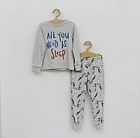 Серая пижама для мальчика р.110
