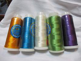 Нитки шовкові та люрексові для машинної та ручної вишивки