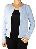 Стильные женские пиджаки без ворота в наличии большие размеры