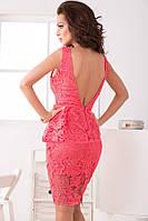 DM-60337 Красивое Миди Платье с Кружевной Баской