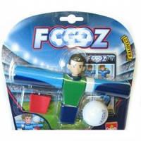 Набор для игры в футбол, 1 футболист, 1 мячик, карточки (Голубой), 30420-GL
