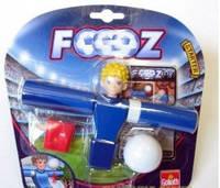 Набор для игры в футбол, 1 футболист, 1 мячик, карточки (Синий), 30405-GL