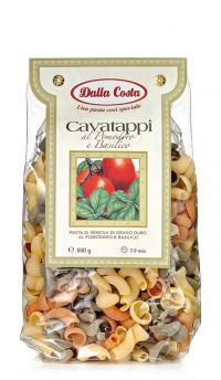 Итальянские макароны ушки цветные Cavatappi Dalla Costa 500 гр.