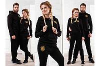 Костюм спортивный женский штаны с мотней логотип Лев