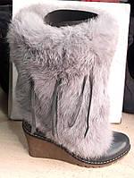 Сапоги женские зимние с мехом недорогие KF0431