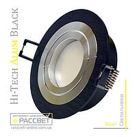 Алюминиевый светильник Hi-Tech Feron DL6110 Black Aluminium (поворотный встраиваемый) круг, фото 1