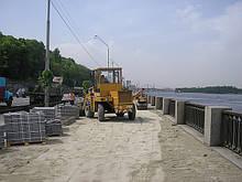 Строительство дорог в Киеве.