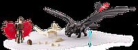 Набор игровой Как приручить дракона Беззубик в броне с всадником Иккингом