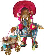 """Набор для шитья игрушки Текстильная каркасная кукла""""Финская девочка"""" К1024"""
