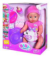 Кукла оригинал Zapf Creation Baby born  Беби Борн  Очаровательная малышка 43 см с чипом и аксессуарами