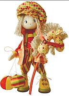 """Набор для шитья игрушки Текстильная каркасная кукла  """"Шалун"""" К1025"""