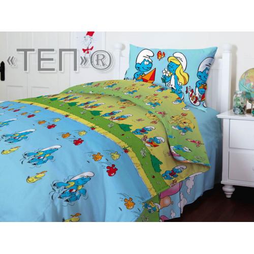 951 Смурфики Подростковое постельное ТЕП
