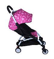 Прогулочная коляска YOYA Сердечки розовый