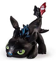 Игровая фигурка Dragons Беззубик в сине-черном окрасе 6 см (SM66551-19)