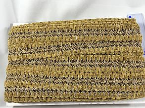 Декоративная тесьма с бархатом цвет бежевый 25 мм , фото 2