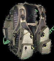 Жилет Golden Catch спиннингиста бежевый (с рюкзаком)