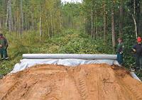 Будівництво лісових доріг в Україні з використанням геотекстиль