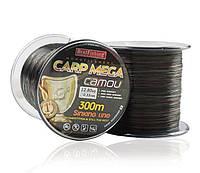 Леска BratFishing Carp Mega Camou 300м 0,18мм