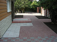 Мощение тротуарной плиткой частных территорий