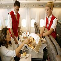 Бесплатные услуги в эконом-классе самых популярных авиакомпаний