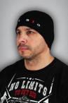 Мужская спортивная шапка get big грубой вязки с отворотом чёрная