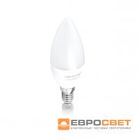 Лампа светодиодная Евросвет свеча С-6-3000-14 6вт 170-240V