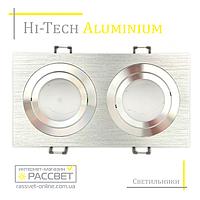 Алюминиевый светильник Hi-Tech Feron DL6122 AT10-2 Aluminium (поворотный встраиваемый)