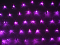 Гирлянда Сетка светодиодная, розовая 120 LED 1,5 х 1,5 см