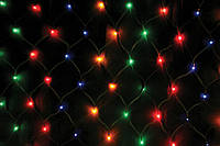 Гирлянда Сетка светодиодная, мульти 160 LED 1,5 х 1,5 см