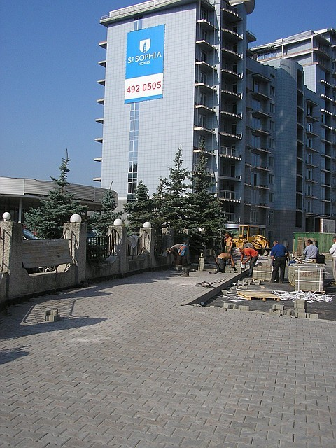 Укладка тротуарной плитки ФЭМ Киев