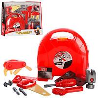 Детский набор инструментов 6611, чемодан, пила, уровень, молоток, отвертка, гаеч.ключ, в кор-ке,