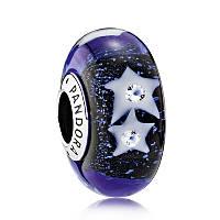 Шарм «Звездное ночное небо» из серебра Pandora, 791662CZ