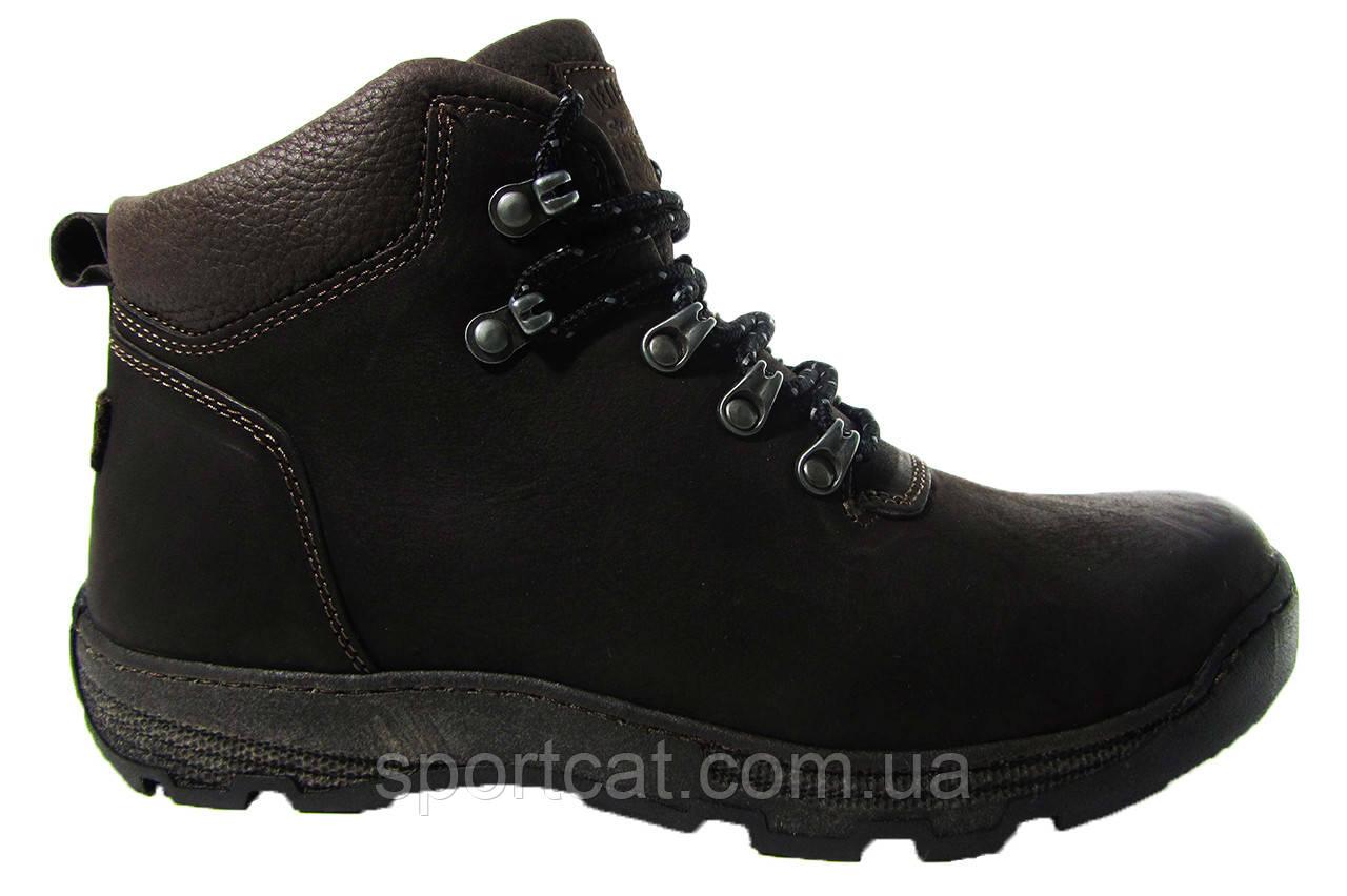 Мужские ботинки Detta, кожа, натуральный мех. Р. 45