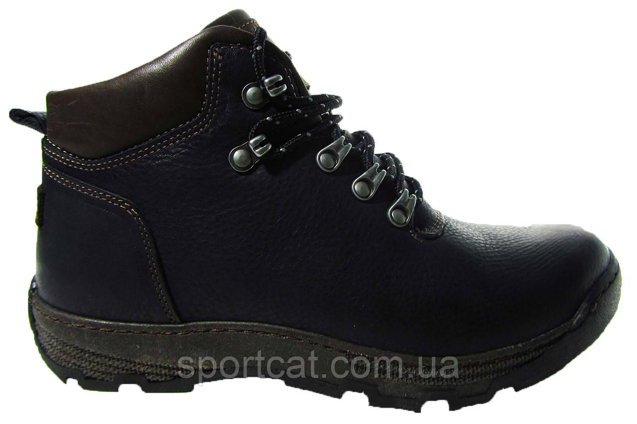 Мужские ботинки Detta, кожа, натуральный мех