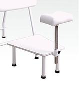 Педикюрная подставка к креслу КП-1, регулируемая по высоте, с полкой для ванночки