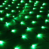Гирлянда Сетка светодиодная 2х2 м, цвет: зеленый 240 LED