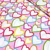 "Бязь ""Разноцветные сердца"""